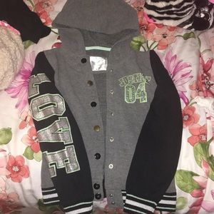 Girls 8/10 Justice bomber jacket/sweater